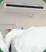 最適な保管環境を維持するためエアコンを完備。季節や天候により温度や湿度の調整を行っております。